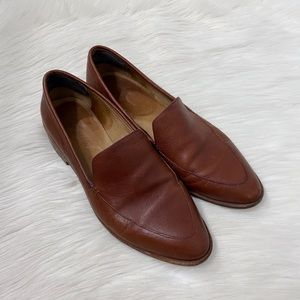 Madewell Brown Leather Frances Loafer Shoes